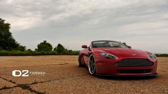 Aston martin cars convertible luxury sport red wallpaper