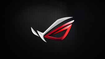 Asus rog republic of gamers computers components logos wallpaper
