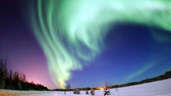 Aurora borealis events landscapes nature north pole wallpaper