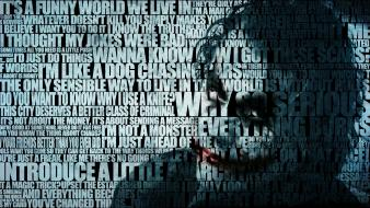 Batman the joker quotes typographic portrait typography wallpaper