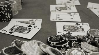Casino monochrome playing cards wallpaper