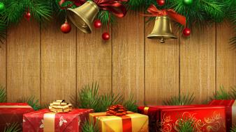 Christmas gifts colors Wallpaper