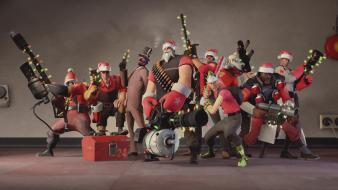 Christmas lights outfits demoman tf2 engineer Wallpaper