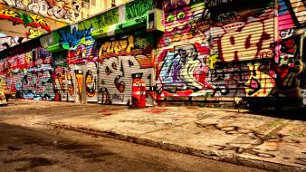 Cityscapes graffiti multicolor skylines street art wallpaper