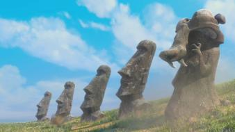 Continental easter island ice age cartoons wallpaper