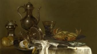 Crab willem claesz heda paintings still life wallpaper
