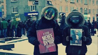 Daft punk russia vladimir putin streets winter wallpaper