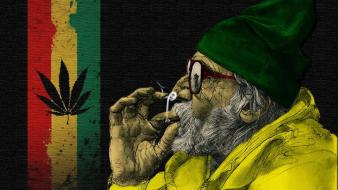 Drugs joint old people rasta wallpaper