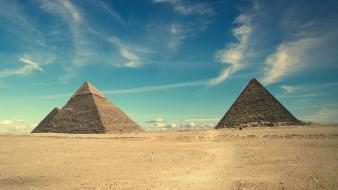 Egypt great pyramid of giza deserts pyramids Wallpaper