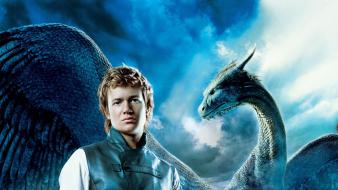 Eragon dragons movie posters swords wallpaper