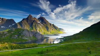 Fjord landscapes mountains nordic Wallpaper