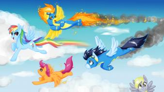 Friendship is magic rainbow dash scootaloo soarin Wallpaper