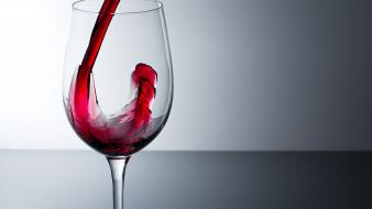 Glass red simple wine wallpaper