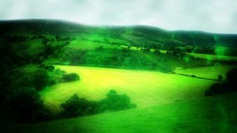 Green landscapes soul wallpaper