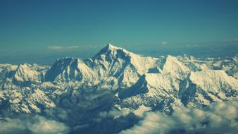Hdr photography himalaya mount everest clouds landscapes wallpaper