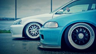 Honda civic jdm japanese domestic market blue cars wallpaper