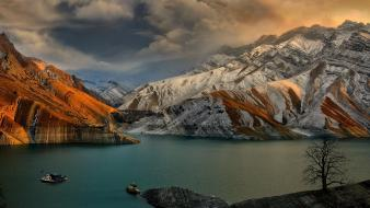 Iran dam landscapes nature rivers wallpaper