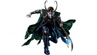 Loki the avengers movie tom hiddleston artwork sceptres wallpaper