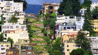 Lombard street san francisco architecture streets wallpaper