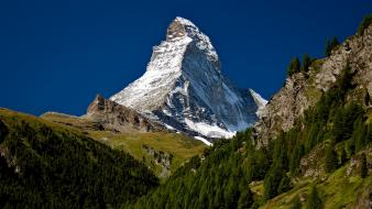 Matterhorn mountains trees wallpaper