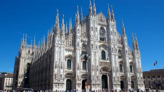 Milano buildings churches ltaly wallpaper