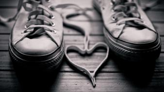 Monochrome shoe laces shoes wallpaper