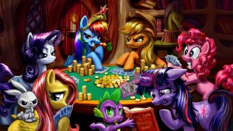 Pony pony friendship is magic poker ponies wallpaper