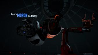 Portal 2 wheatley science fiction video games Wallpaper
