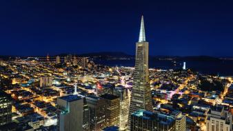 San francisco night widescreen wallpaper