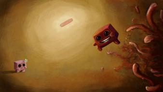 Super meat boy artwork fan art video games wallpaper