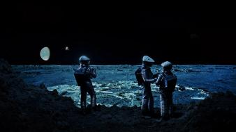 2001 a space odyssey moon astronauts science fiction wallpaper