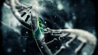 3d dna nano adn schematic wallpaper