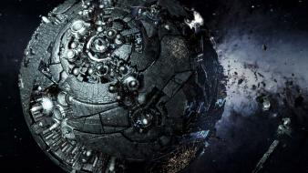 3d earth transformers destruction earthrise wallpaper
