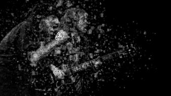 Acdc rock music typographic portrait wallpaper