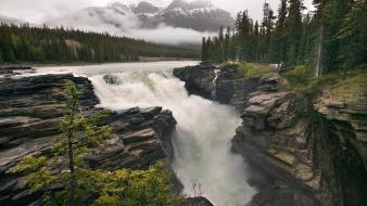 Alberta canada landscapes nature waterfalls wallpaper
