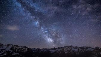 Alps milky way mountains nature night sky wallpaper