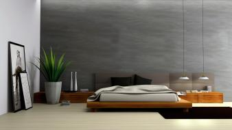 Architecture bedroom interior room Wallpaper