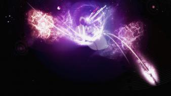 Artistic flares outer space wallpaper