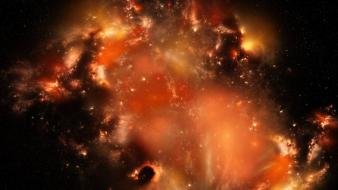 Artistic outer space stars wallpaper