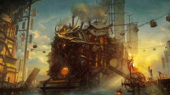 Asians artwork fantasy art steampunk wallpaper
