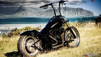 Beaches chopper landscapes motorbikes mountains Wallpaper