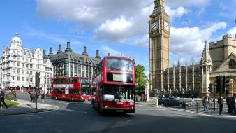 Big ben london bus cityscapes wallpaper