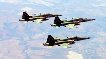 Brazil f5 freedom fighter formation jet aircraft wallpaper
