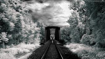 Bridges frost infrared photography landscapes wallpaper