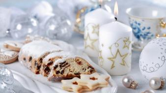 Cakes candles decorations winter wallpaper