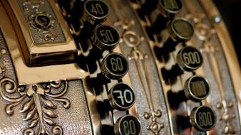 Cash register vintage wallpaper