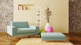 Couch furniture interior living room wallpaper