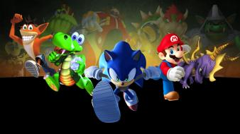 Croc mario sonic the hedgehog spyro dragon wallpaper
