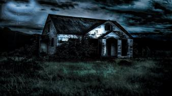 Dark house scary wallpaper