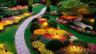 Earth digital art garden nature paths wallpaper